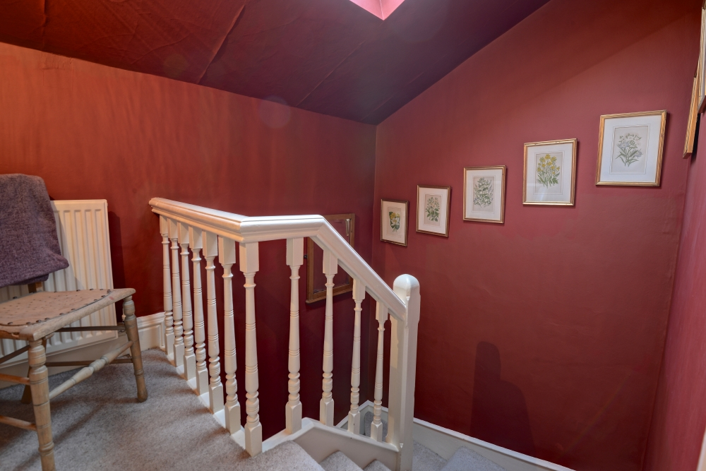Chapel  Cottage ground floor bathroom staircase leading to double…