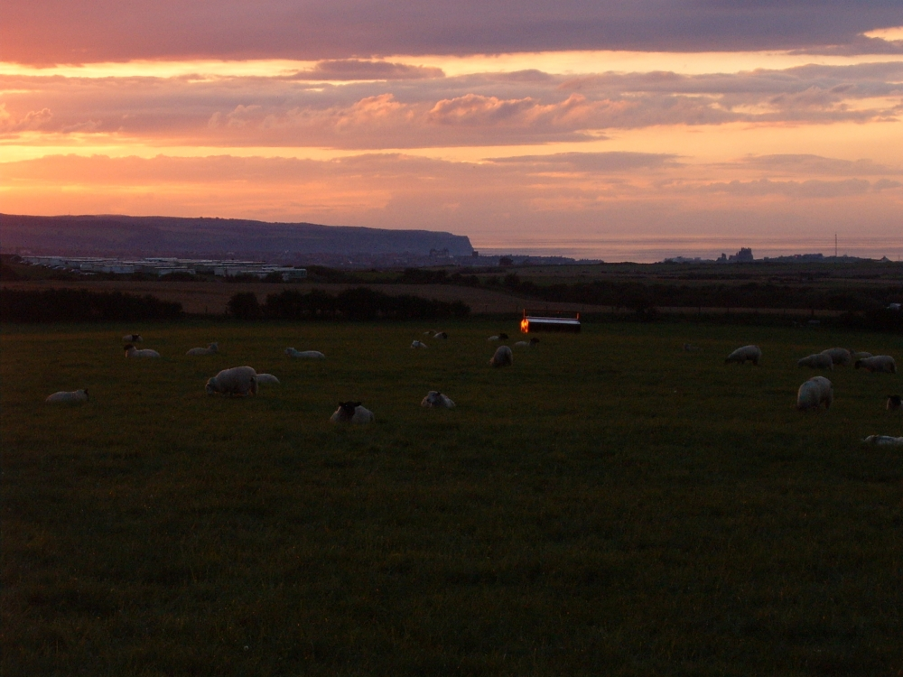 Sunset looking towards Whitby