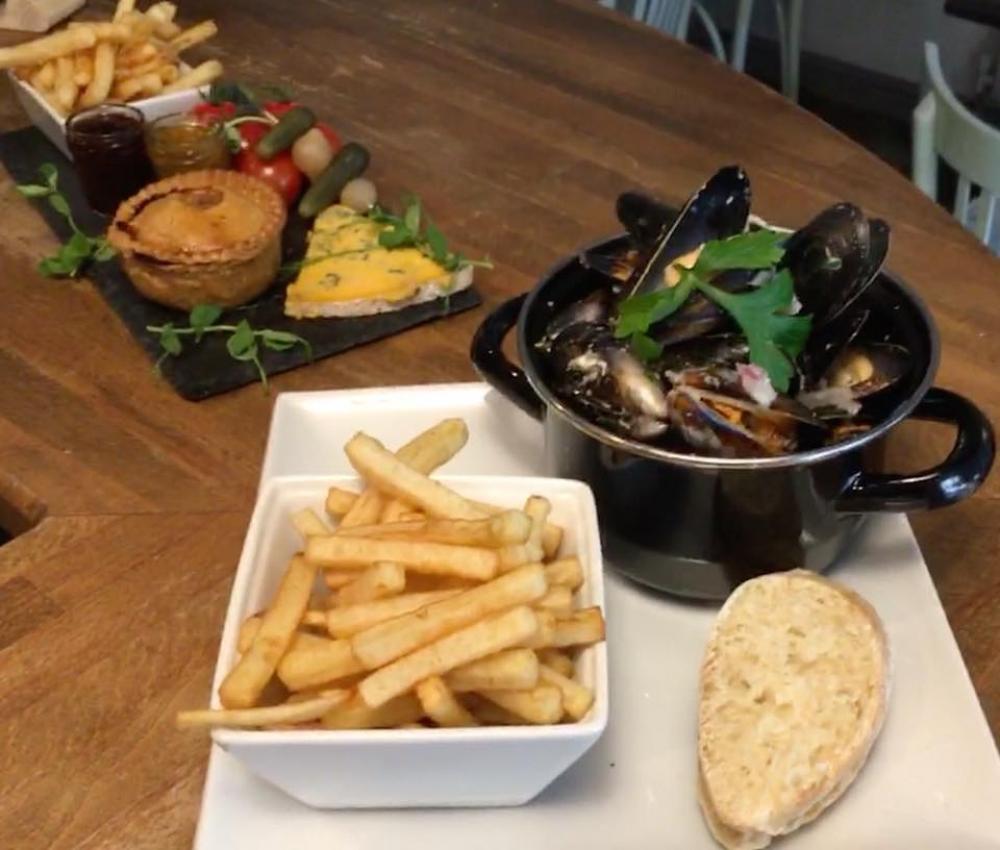 Radfords Pork Pie & Fresh Shetland Mussels