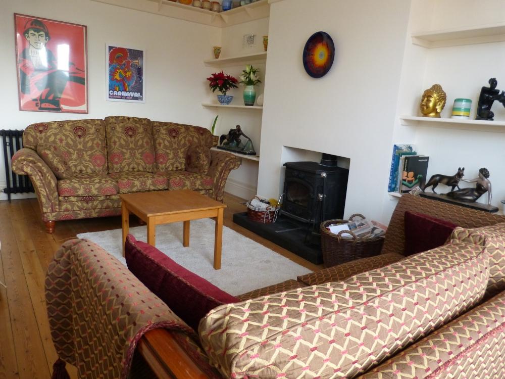 Ground floor Lounge with wood burner