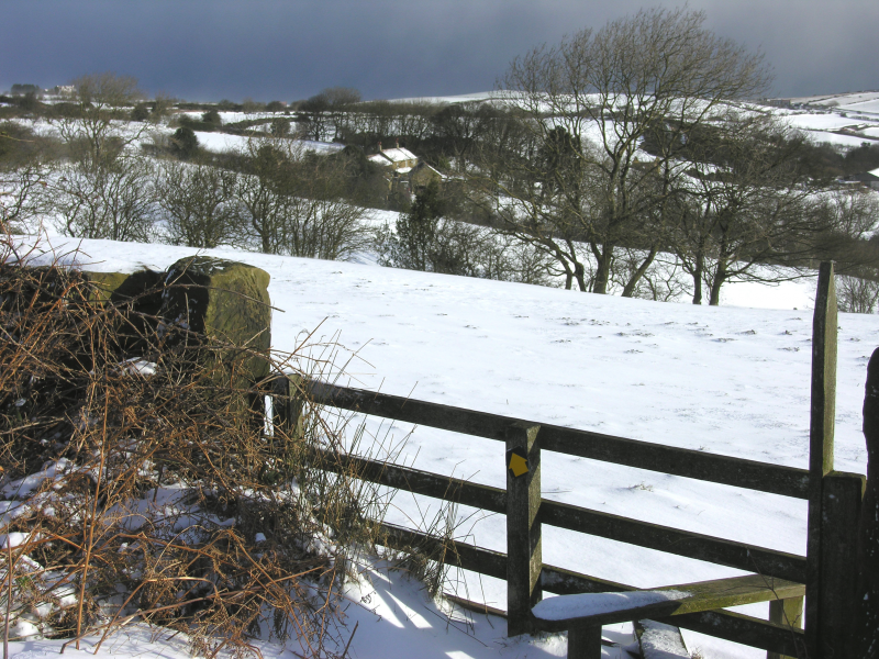 Skerry Hall Farm - picturesque in the snow.