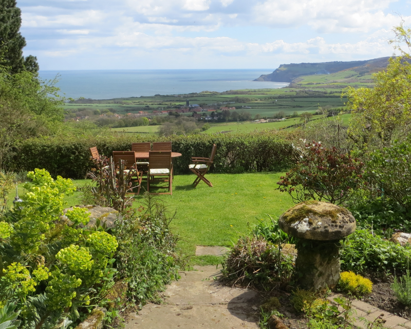 Guests can sit in the garden and soak up the view